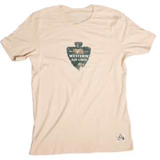 Western Air Lines aviation shirt soft cream