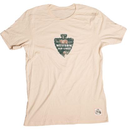 Western Air Lines aviation shirt soft cream