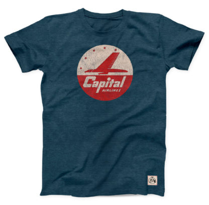 Capital Airlines logo t-shirt