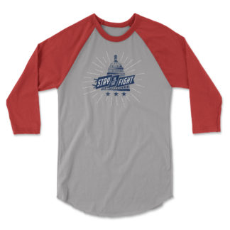 "2019 Washington Nationals ""Stay in the Fight"" shirt, baseball sleeves"