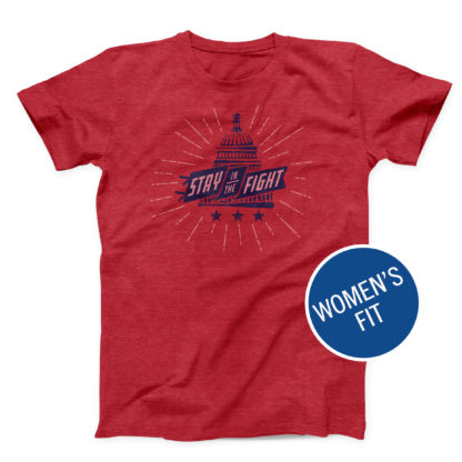 "2019 Washington Nationals ""Stay in the Fight"" shirt, women's fit"