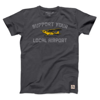 Support Your Local Airport handmade aviation shirt